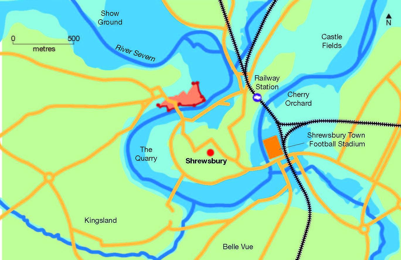Map with flood plain